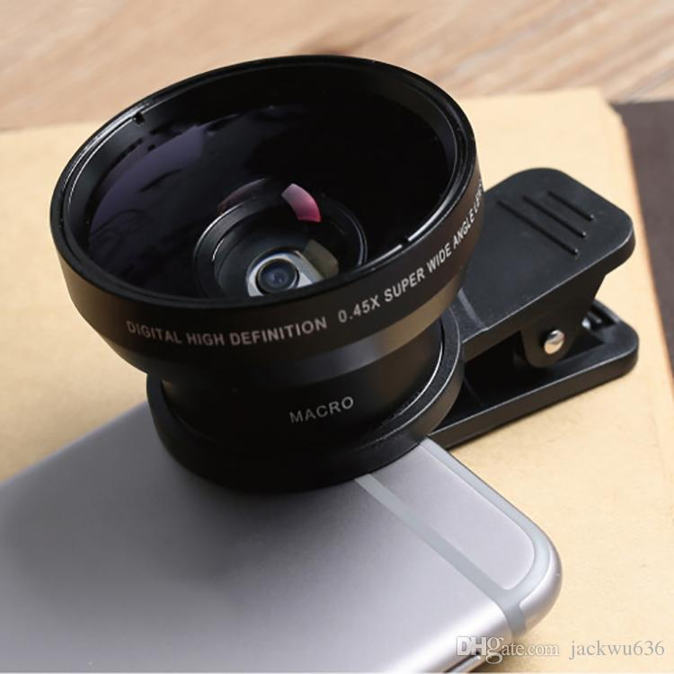 Mobile phone lens 0.45X wide-angle external camera lens phone camera macro lens set