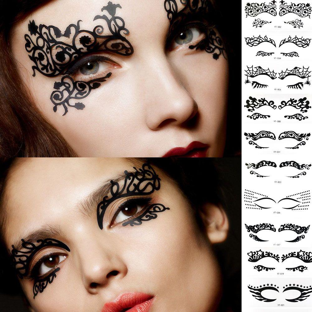 Eyes tattoo makeup mugeek vidalondon for Face tattoo makeup