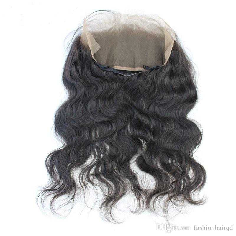 22.5*4*2 inch 360 Lace Frontal Closure With Baby Hair Body Wave Unprocessed Brazilian Virgin Human Hair 360 Lace Closure Pre Plucked