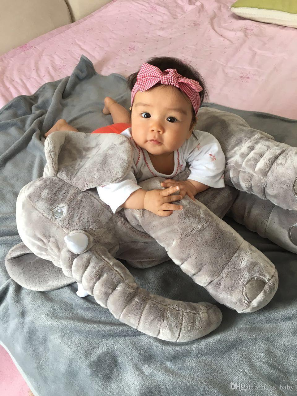 Baby Elephant Pillow Plus Animals Toys Lovely Soft Plush Dolls Baby Safe High Quality Sleep Calm Toys Room Bed Decoration Plush Toys