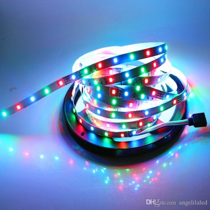 info for 8688e f4793 300 LEDs 5Meters 2835 LED RGB Flexible Strip, 12V Rope Light 60led/m LED  Tape, Non-waterproof LED Ribbon String Lamp