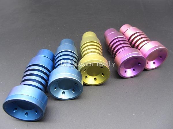 Bunte Titanium Nail Justierbare GR2 Domeless Titanium Nägel T-001 T-003 14mm und 18mm männlich oder weiblich Joint Rauchen Wasserpfeife Bongs