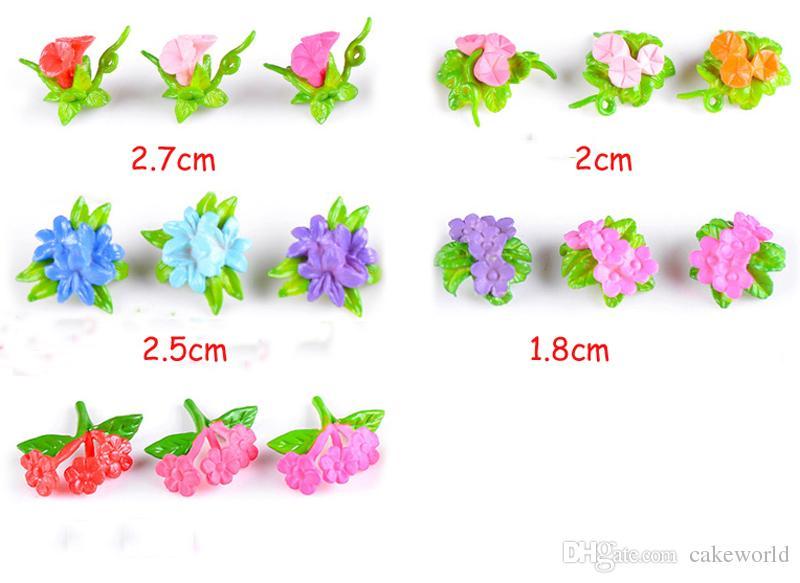 colorato simulazione fiori abbellimento decorazioni fata giardino miniature terrario figurine accessori la casa cupcake topper