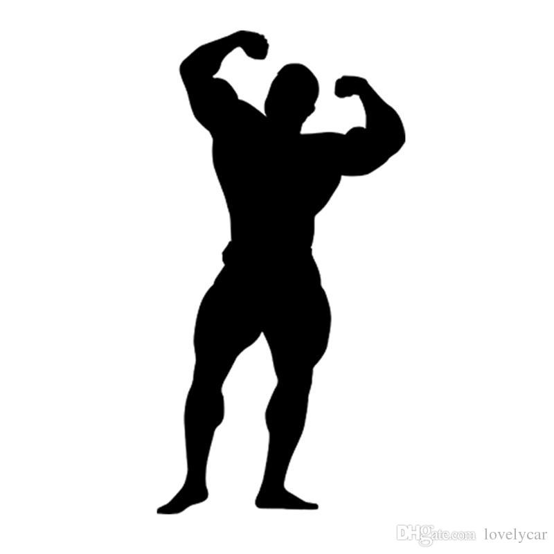 Best Bodybuilder Silhouette Gym Sport Car Styling Funny
