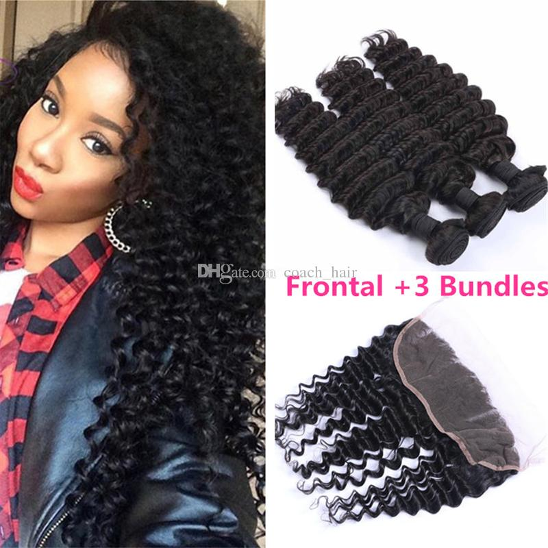 Cheap 13x4 deep wave frontal with bundles indian virgin human hair cheap 13x4 deep wave frontal with bundles indian virgin human hair weaves deep wave bundles with free part lace frontal closure human weave wet n wavy human pmusecretfo Image collections