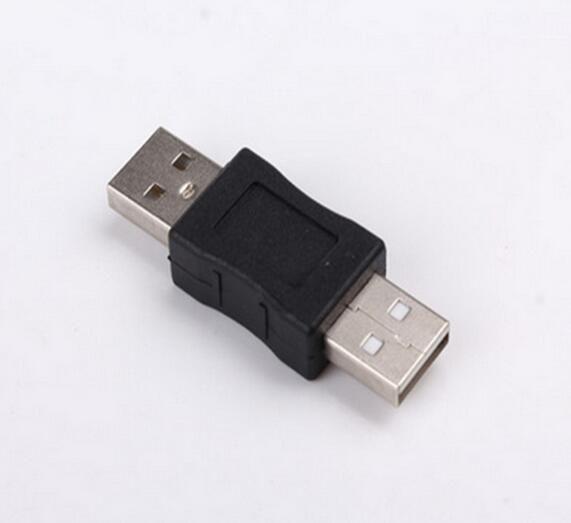 Toptan 500 adet / grup USB 2.0 Tip A Erkek Bir Erkek Adaptörü Bağlayıcı Dönüştürücü Çoğaltıcı
