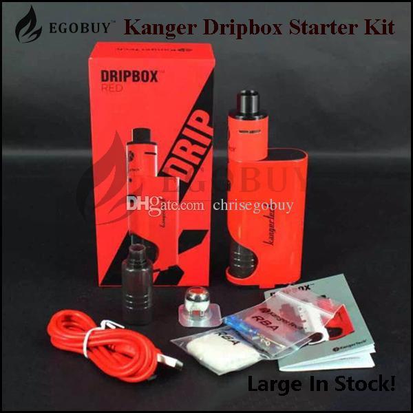 100% Orijinal kanger dripbox başlangıç kiti kangertech yedek bobinler 18650 pil dripmods dripmod damla kutusu 7 ml subdrip tankı atomizer