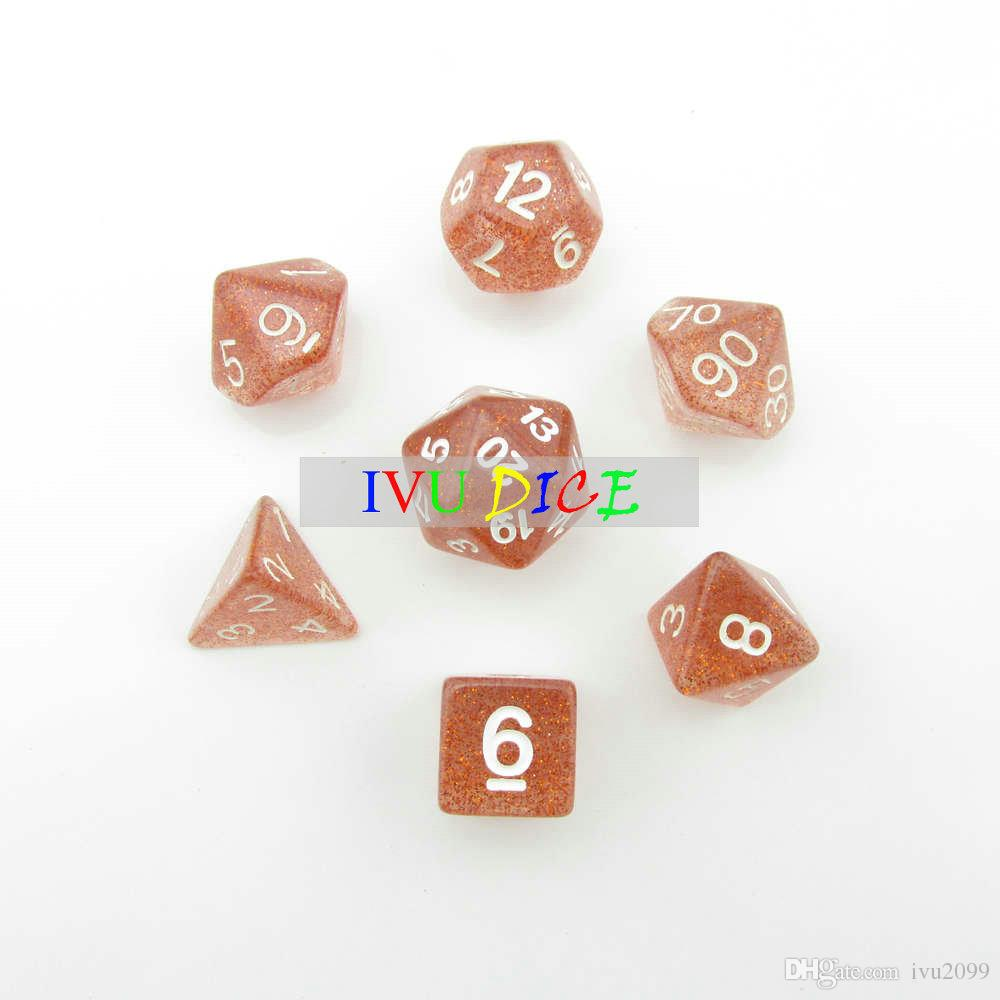 DND Table OEM BOARD GAME Dungeons&Dragons number dice star Transparent Brown D4 D6 D8 D10 D12 D20 dices IVU