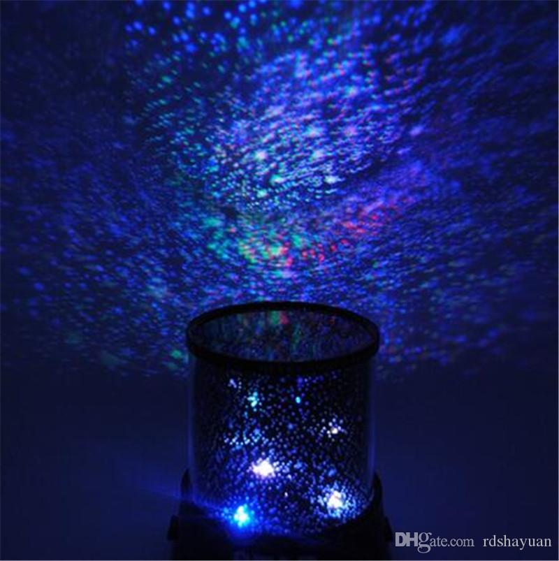 Beautiful Design Colorful Cosmos Romatic Star Sky Master Projector Starry LED Night Light Lamp For Bedroom Cute Gift Baby Sleep