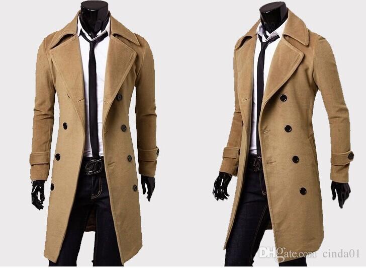 Hommes Designer Vêtements Trench Coats Livraison Gratuite Hiver Mode Unique Poitrine Cachemire Veste Manteaux Hommes Manteau Casacos