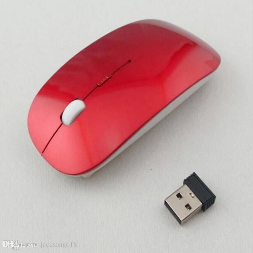 2020Cheapest أفضل ماوس لاسلكي مع رقيقة جدا بصري استقبال 2.4G سليم ماوس للكمبيوتر PC الفئران الكمبيوتر المحمول سطح المكتب مع 6 لون