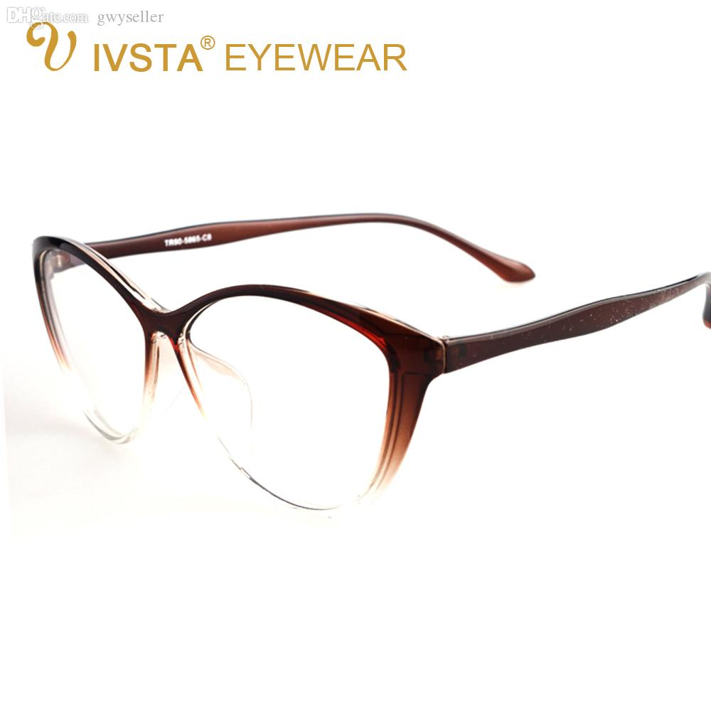 f9ee74dc55 Wholesale-IVSTA 5865 Flexible TR90 Plastic Titanium Cat Eye Glasses ...