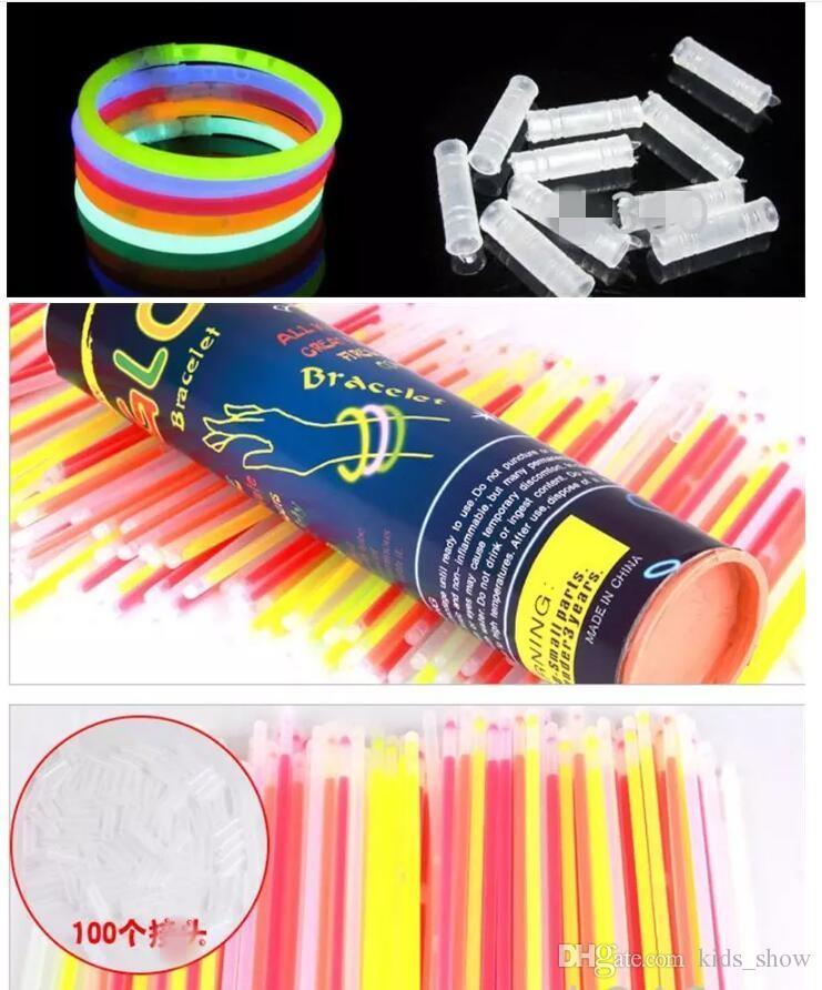 7.8''Multi Color Hot Glow Stick Браслет Ожерелья Neon Party Светодиодная проблесковая лампа Stick Wand Новинка Игрушка LED Вокальный концерт LED Flash Stick