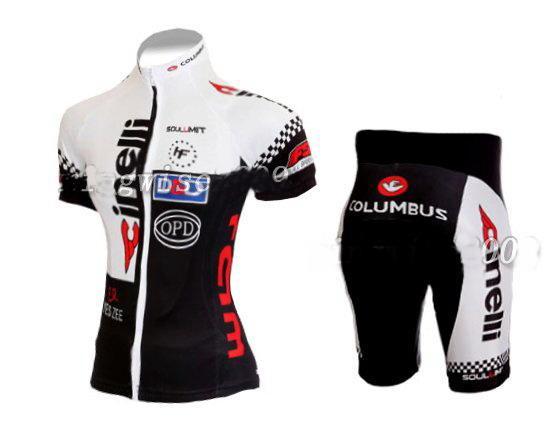 XS-XL : 여성 사이클링 저지 + 반바지 자전거는 옷을 2,011 치 넬리 BLACK WHITE-크기를 설정합니다