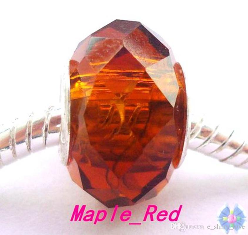 / Brown sfaccettato perline di cristallo monili che fanno incantesimi sciolti perline fai da te il commercio all'ingrosso del braccialetto in prezzo basso di massa