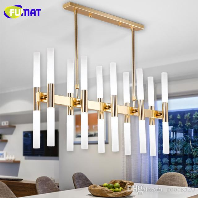 FUMAT Modern Agnes Chandeliers Dining Room Hanging Lamp LED Acrylic Shade Chandelier Light Fitting Lustre Gold Black 16 20 Heads Living
