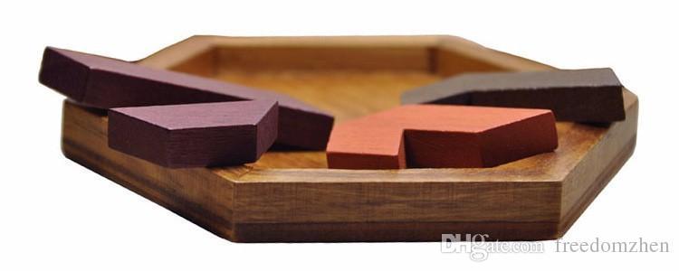 Puzzles para niños Juguetes de madera Tangram / Jigsaw Board Forma geométrica de madera P Niños Juguetes educativos