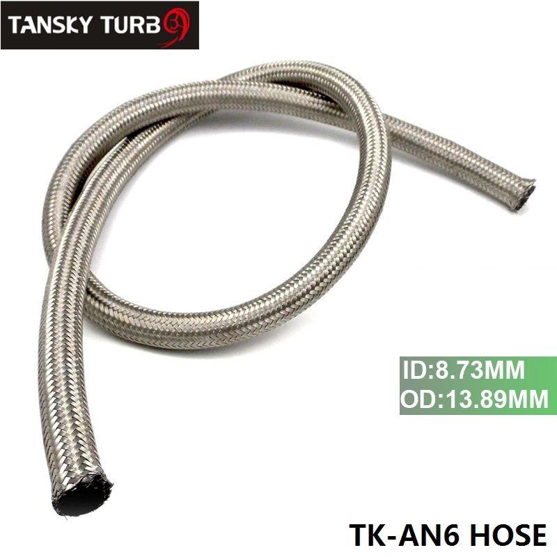 Tansky -NEU AN6 Geflochtene Edelstahl GUMMI Kraftstoffleitung Ölschlauch 1M 3.3FT TK-AN6 SCHLAUCH