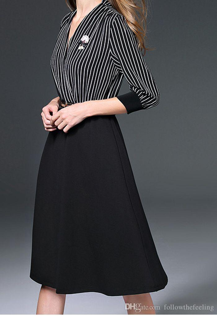 70c6fac555a 2019 2017 New Arrival Hot Sale Women Dress V Neck Middle And Long ...