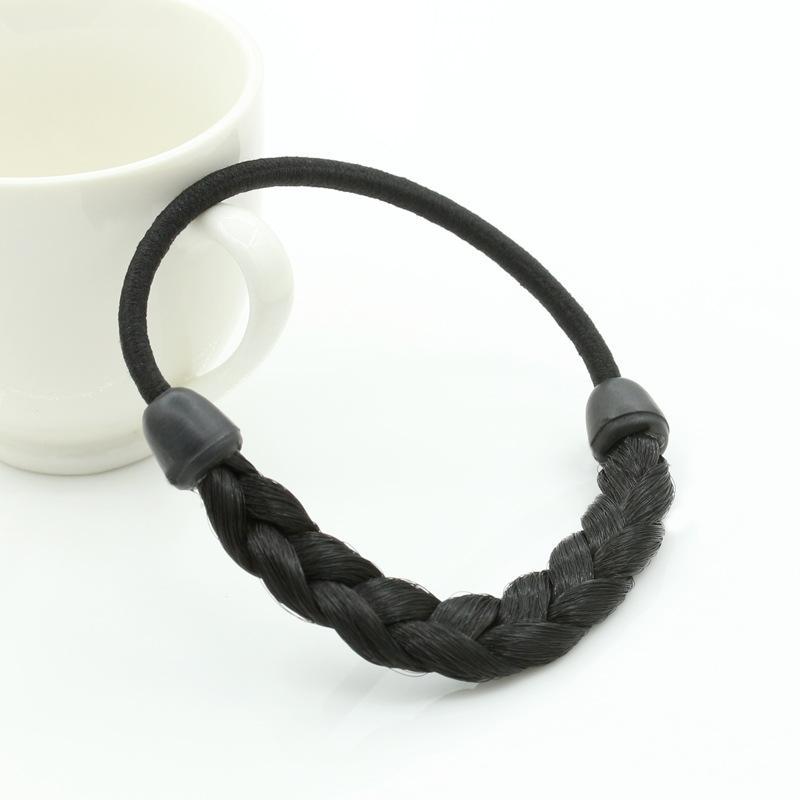 Haarnadel Koreanische Haar Seil Ring Elastische Geflochtene Tonytail Wrap Haarband Befestigungszubehör Synthetische Kopfbedeckung Pferdeschwanzhalter Haarschmuck