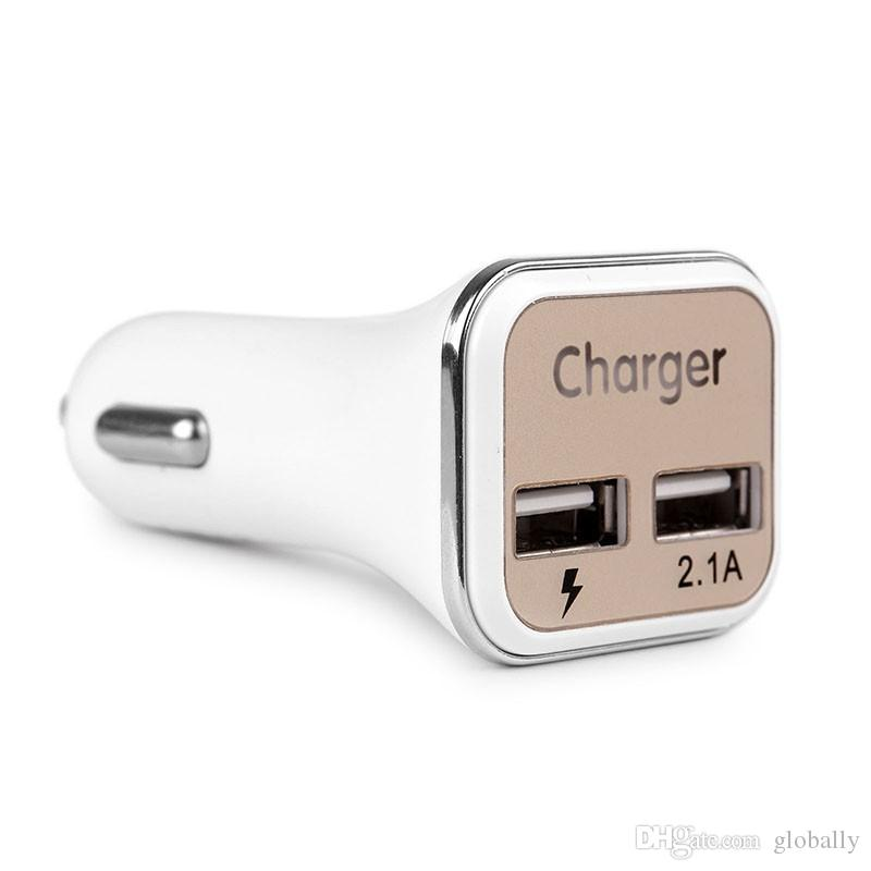 Wholesale Hot New Dual USB Adaptive QC2.0 LED Quick Charge Super Fast Car Charger For Samsung Galaxy Note5 S6 S7 Edge +