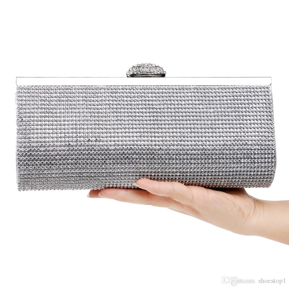 a6c39412cb643 Fashion Rhinestones Women Clutch Bags Diamonds Finger Ring Evening Bags  Crystal Wedding Bridal Handbags Purse Bags Black/Gold Silver Newest Bags  For Women ...