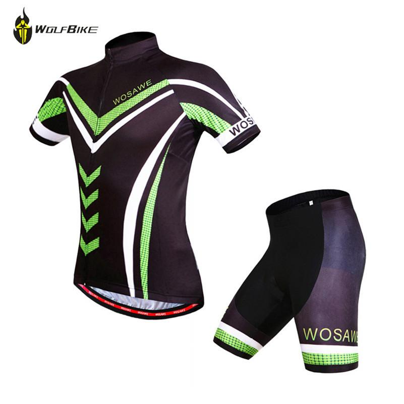 0fcd791b3 WOSAWE Green Purple Cycling 3D Padded + Jersey Set for Men Women 2015 New  Brand Design Bike Bicycle Sports Clothing High Quality Jersey Mexic China  Set ...