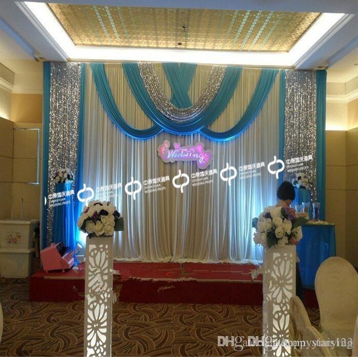 Free Dhl Wedding Swag Curtain Drap Ice Silk Wedding Backdrop 3m*6m10ft*20ft  Wedding Decorations High Quality Wedding Decorations On A Budget Wedding ...