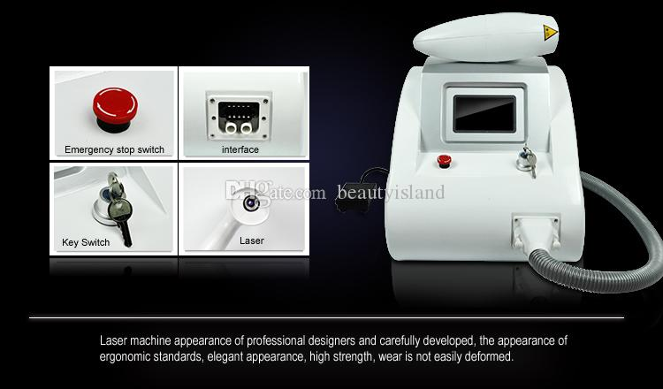 2000MJ portátil 3 cabezas Q Máquina de eliminación de tatuajes con láser Nd Yag Pigmento Eliminación de cejas 1320nm1064nm532nm Eliminación de tatuajes ND YAG
