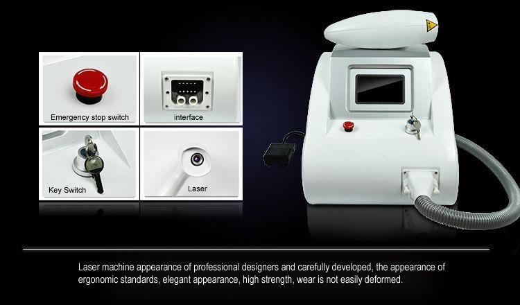 Tragbare 2000MJ 3 Köpfe Q schaltete Laser-Tätowierungs-Abbau-Maschinen-Pigment-Augenbraue-Abbau Nd Yag 1320nm1064nm532nm Nd YAG-Tätowierungs-Abbau