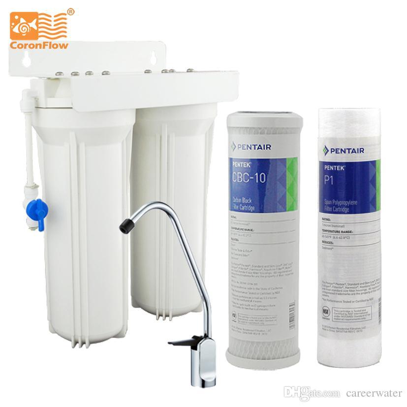Coronflow Household Dual Undersink Water Filter System Kitchen Water ...