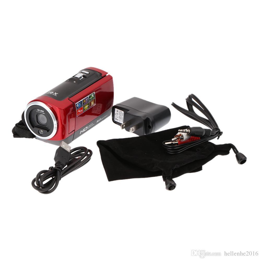 2016 새로운 DV 캠 HD 비디오 카메라 캠코더 HD 720P 16MP DVR 2.7 'TFT LCD 화면 16x 줌 디지털 캠코더