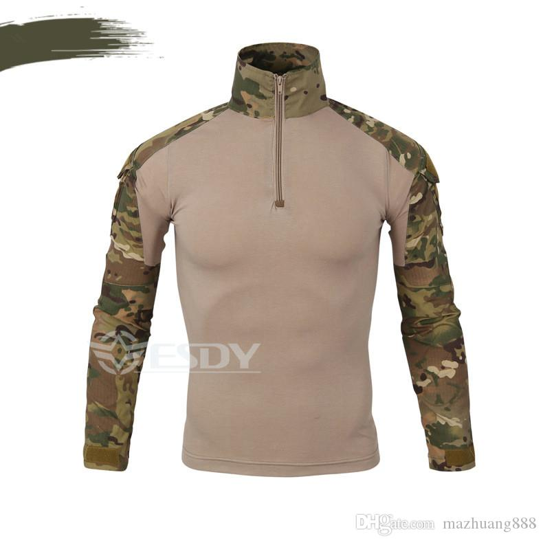 2017 Spring Europe Autumn China US Army Camouflage Military Combat Shirt Multicam Uniform Militar Shirt Paintball Hunting Tactical Clothes