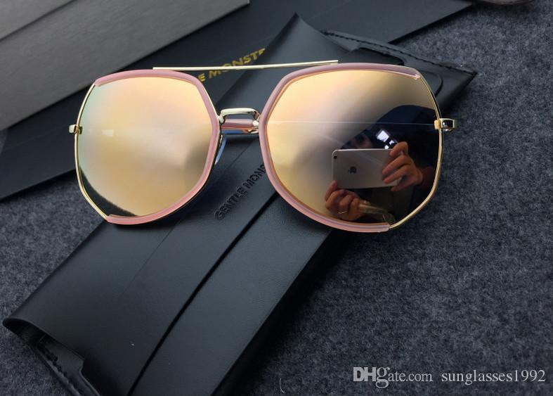 55be94becf Luxury Brand Pilot Sunglasses 2019 New Fashion Women Italy Hollow ...