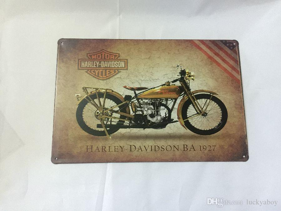 Cheap Price good quality harley Davidson design rerto tin sign home Bar Pub Hotel Restaurant Coffee Shop home Decorative Retro Metal Poster