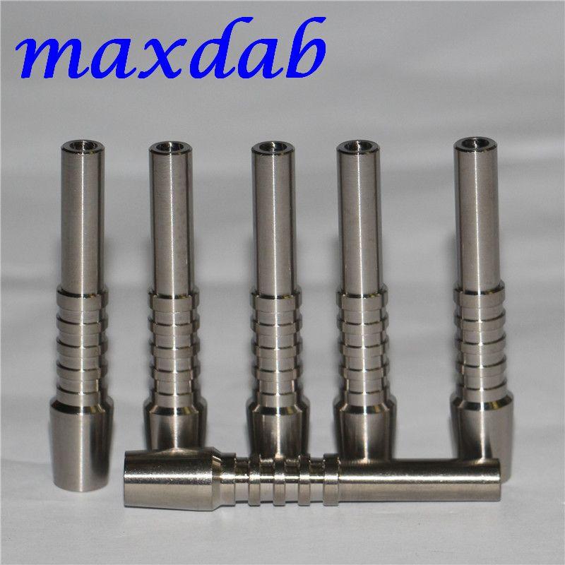 Nektar-Kollektor Titan-Nagel Gelenke 10mm GR2 Titannägel Honig Dab Strohkonzentrat Glas Wasserpfeife Bong Bohrinseln