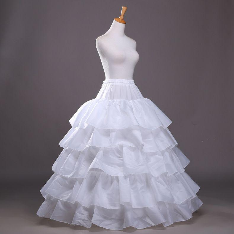 2016 새로운 볼 가운 페티코트 화이트 크리 놀린 언더 웨딩 드레스 슬립 3 후프 스커트 크리 놀린 성인식 드레스 저렴한 무료 배송