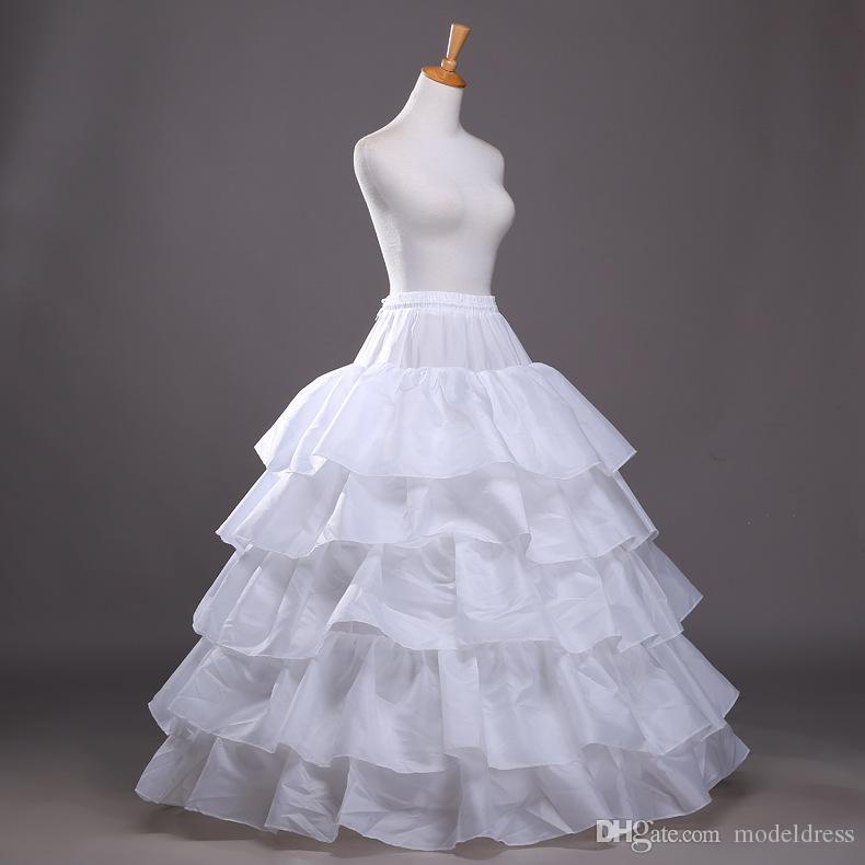 2016 New vestido de baile Petticoat Branco crinolina vestido underskirt casamento deslizamento 3 Hoop saia crinolina Para Quinceanera baratos frete grátis