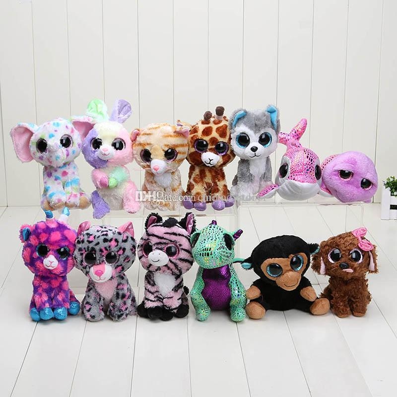 2019 TY Cute Mini Beanie Boos Colorful Big Eyes Animal Plush Doll Toy For  Gifts Send By Random From Melodystory 802be9d5a17