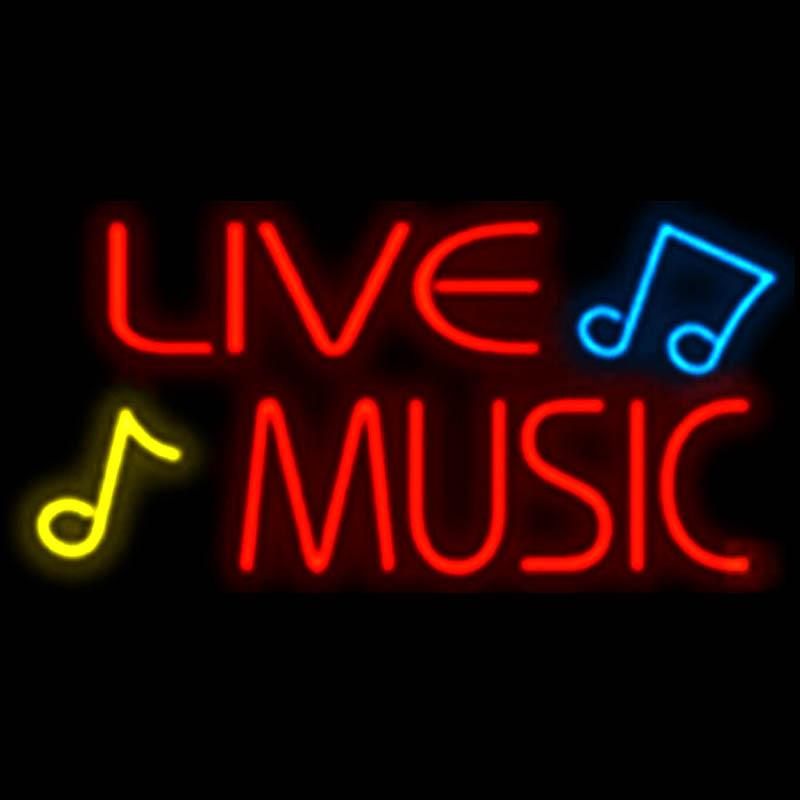 Live music neon sign handmade custom real glass tube bar ktv club live music neon sign handmade custom real glass tube bar ktv club disco store pub concert play neon signs free design 19x10 live music neon sign music bar aloadofball Images
