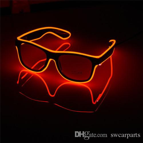 Luminoso EL Neon LED Gafas Intermitente Parpadeo Gafas de sol Bar Fiesta DJ Props Caliente
