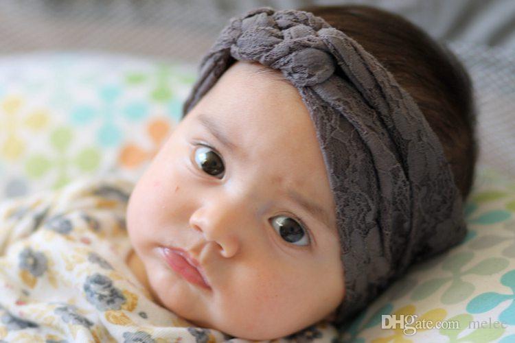 2016 baby spitze kreuz stirnbänder säuglingshaar geflochtene kreuz knoten haarschmuck kopf wickeln stirnband 6,7 * 2,75 zoll freies fedex dhl schiff