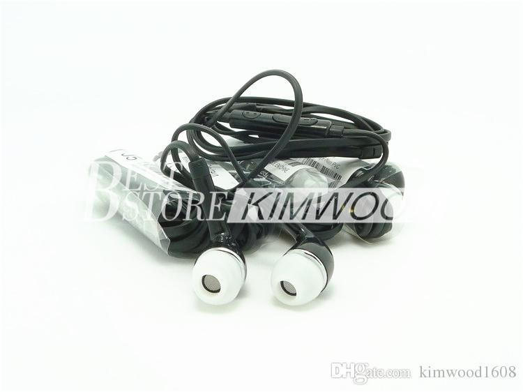 Auriculares estéreo en la oreja blancos / negros Auriculares con auriculares de 3.5 mm con micrófono y control remoto para teléfonos móviles Samsung con Android