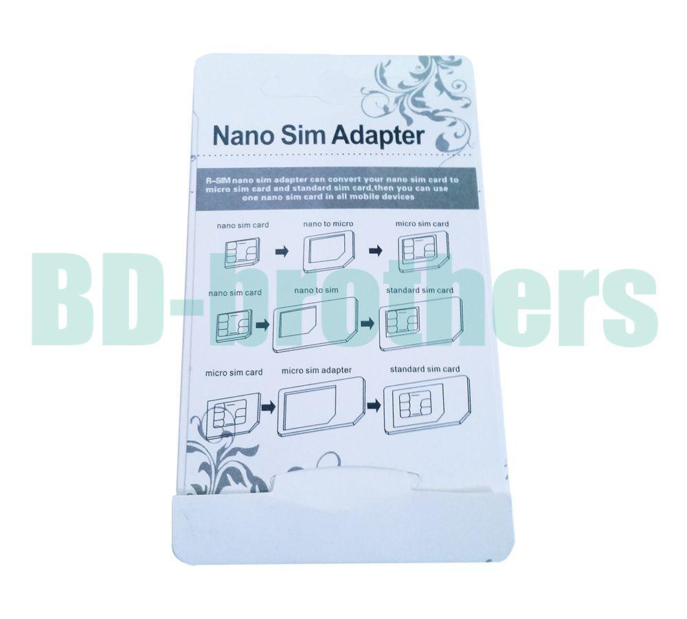 Sim Karten Adapter Schablone.Wholesale 4 In 1 Nano Sim Karten Adapter Noosy Micro Sim Adapter Mit Eject Pin Key Weiss Fur 4 5 6 Plus 500sets Lot