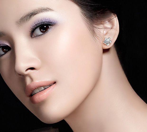 Nouveaux bijoux de mode en argent sterling 925 bijoux stud boucles d'oreilles pour les femmes avec blanc zircon usine prix de vente en gros