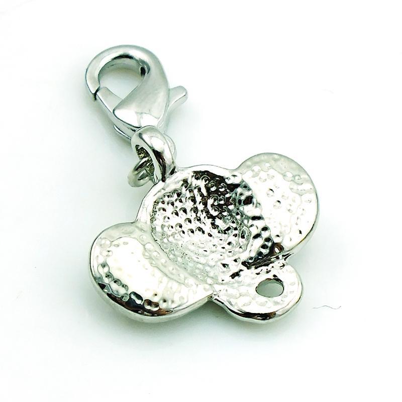 Moda all'ingrosso galleggiante aragosta chiusura fascini strass testa di elefante all'ingrosso fascini fai da te gioielli rendendo accessori