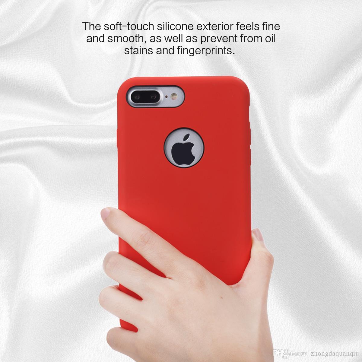 custodia in silicone per iphone 7 plus