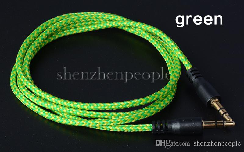 Geflochtenes Audio Zusatzkabel 1 m 3,5 mm Wave AUX Verlängerung Stecker auf Stecker Stereo Auto Nylonschnur Jack für Smartphone PC MP3 Kopfhörer Lautsprecher