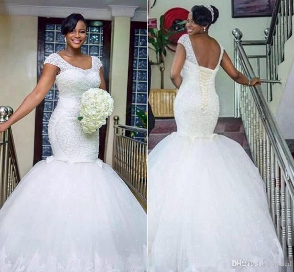 Nigerian Wedding Gowns: 2017 New African Nigeria New Mermaid Wedding Dresses Plus