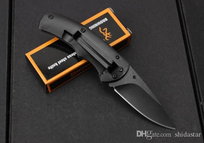 Browning FA15 Small Pocket Folding Knives 5Cr15Mov 57HRC Titanium Blade Wood Handle Tactical Hunting Survival Utility EDC Tools Collection